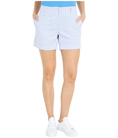 Vineyard Vines Seersucker 5 Everyday Shorts (Marlin/White) Women