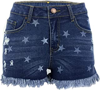 Fulision Broken Hole Jeans Women's Sexy Tassel Side Open Cowboy Shorts