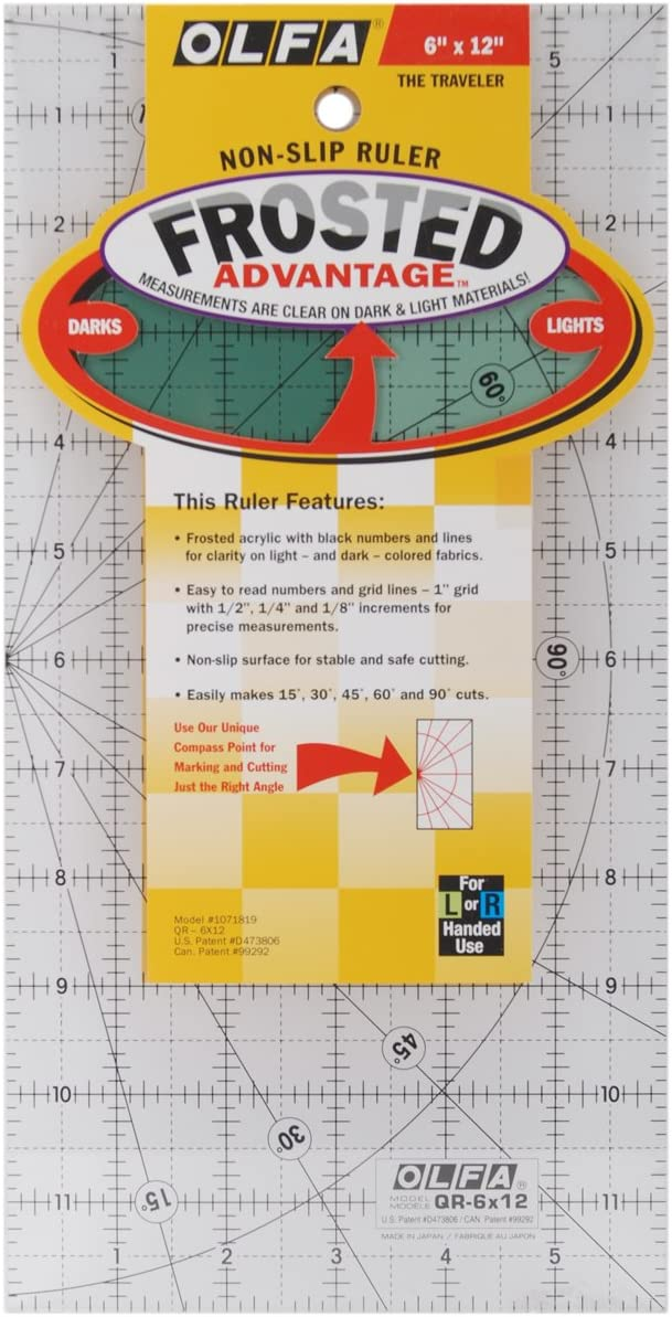 Safety and trust OLFA Frosted Advantage Non-Slip Quantity limited Ruler Traveler