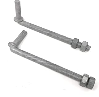J-Bolt Galvanized with 2 Nuts Attached 2 Pc Pack 5/8