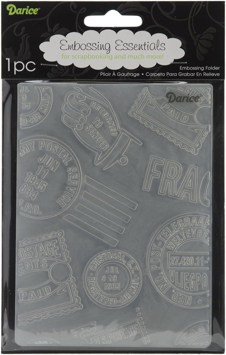 Darice Cheap 1218-27 Embossing Folder 4.25 Max 87% OFF Sta 5.75-Inch by Passport