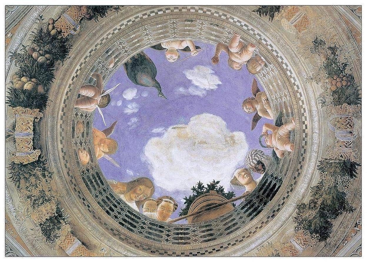 ウェイド感謝する予測子Artopweb絵画 Mantegna - Camera Degli Sposi 装飾パネル, マルチカラー, サイズ: 100x70 Cm