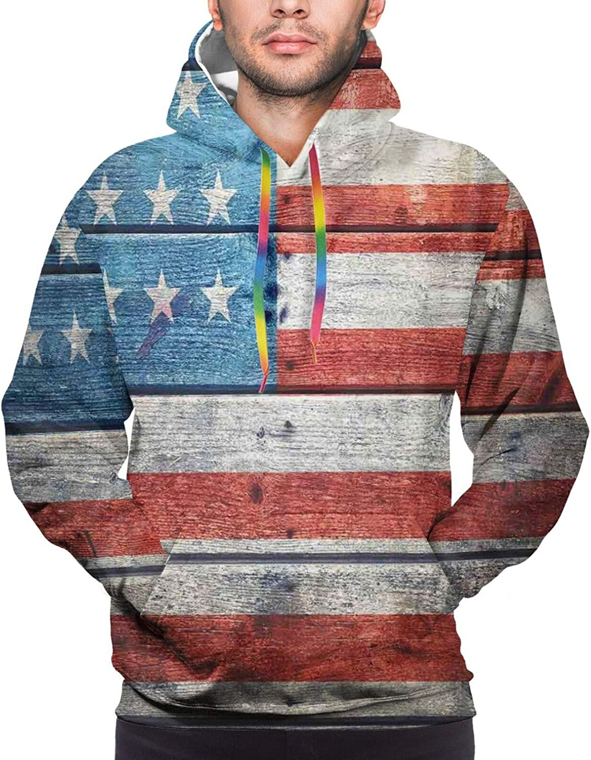 Men's Hoodies Sweatshirts,July Fourth Stars Citizen National Day Patriotic Western Salute to The Union