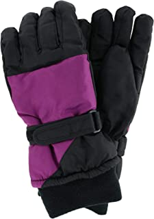 Polar Extreme Women's Waterproof Color Block Ski Glove with Wrist Strap
