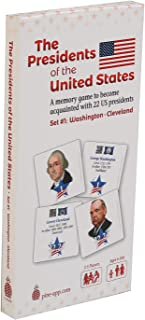 NA U.S Presidents Card Game Set #1 (Washington-Cleveland) - Unique Memory Card Game for The Whole Family - Learn About The...
