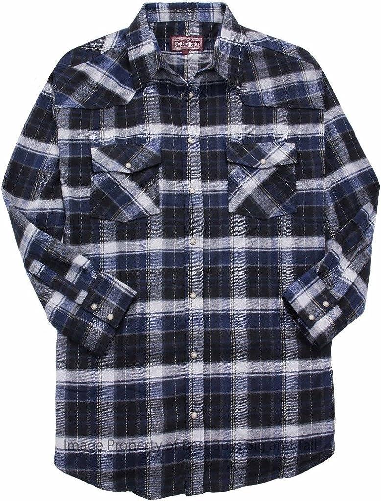 Big & Tall Men's Falcon Bay WESTERN Flannel Plaid Shirt