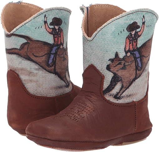 Brown Suede Vamp/Bull Rider Shaft