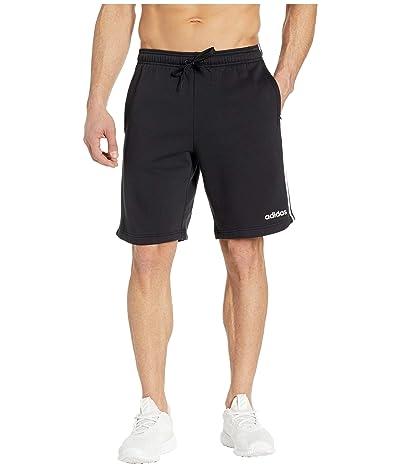 adidas Essentials 3-Stripes Fleece Shorts (Black/White) Men