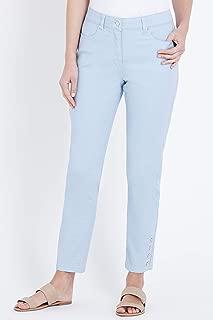 W.Lane Button Trim Ankle Jean - Womens