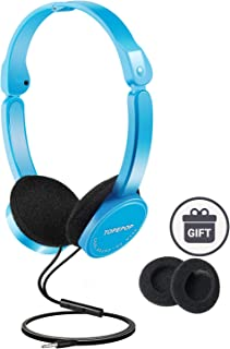 Kids Headphones On Ear Headsets for Children Adjustable Headband Stereo Sound Foldable Untangled Wires 3.5mm Aux Jack (Model 02)