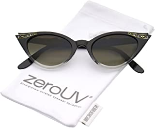 50s Vintage Cat Eye Sunglasses for Womens with Rhinestones Pinup Girl Clothing Rockabilly Accessories