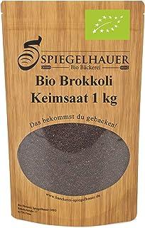Semillas orgánicas para germinados de brocoli - Semillas para germinar brotes de brocoli - fuente de energía saludable - nutritivas y sabrosas para ensaladas - Contenido: 1kg semillas de brocoli