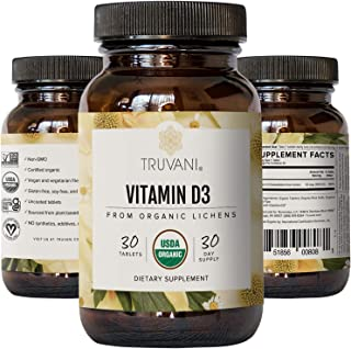 Truvani Vitamin D3 (2,000 IU) | Supports Immune Health & Bone Health | High Absorption & USDA Organic | 30 Servings