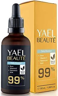 99% natural ● sérum facial con Vitamina C y ácido hialurónico puro ● para cuello y escote ● efecto antiarrugas y antiedad ...