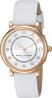 Marc Jacobs Women's Quartz Watch analog Display and Leather Strap, MJ1634