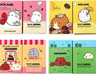 Cartoon Animals 6 Folding Memo Pad Sticky Notes Bookmark Stationery Notepad Cute