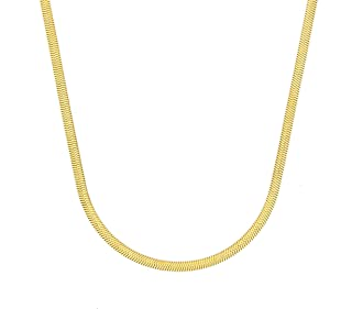 CHOICES Gold Flat Snake Chain Necklace | Choker Necklace | Gold Necklaces for Women