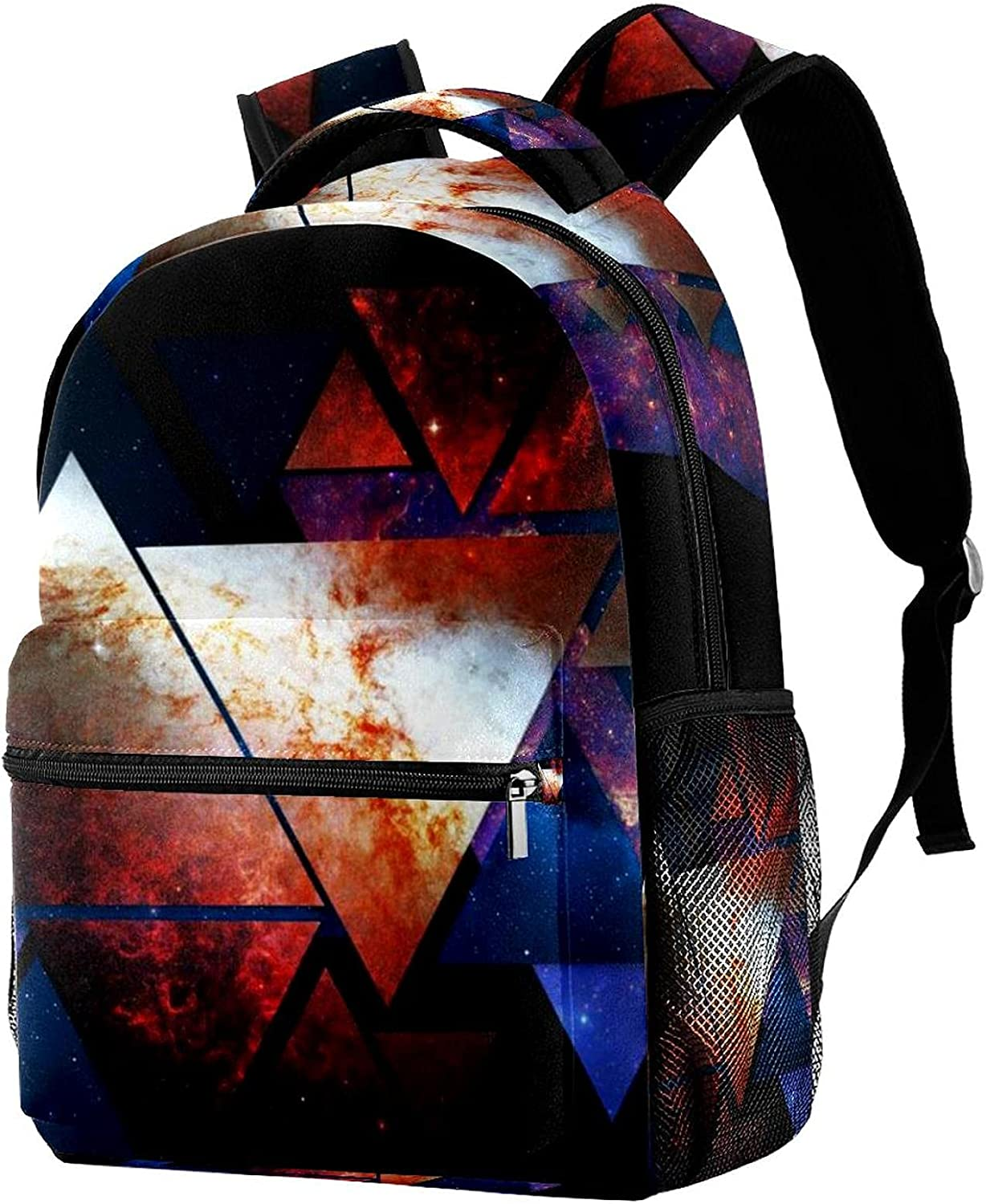 Cheap sale Abstract Space Triangles Backpack Shoulder Bags Travel Courier shipping free Students