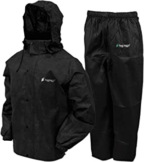 Frogg Toggs All Sports Rain Suit (Black, Large)