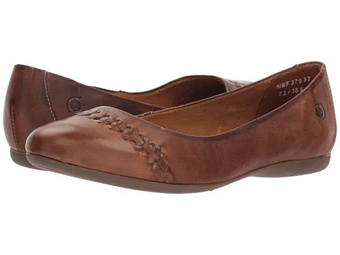 Born  Madeleine (Light Tan Full Grain Leather) Womens Flat Shoes