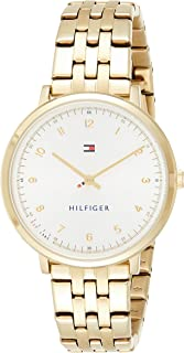 Tommy Hilfiger Women's Casual Sport Quartz Watch with Gold-Tone-Stainless-Steel Strap, 16 (Model: 1781761)