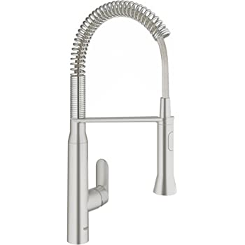 Grohe K7 Medium Semi Pro Single Handle Standard Kitchen Faucet Touch On Kitchen Sink Faucets Amazon Com