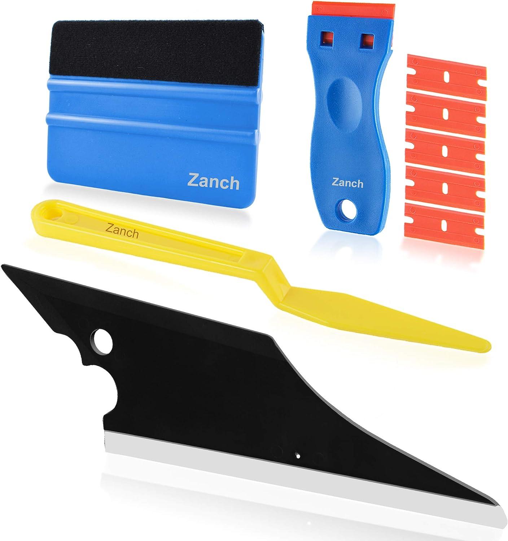 Zanch Window Tint Tool Vinyl Wrap Tools Kit Car Tinting Squeegee Scraper Tool Shank Micro Felt Vinyl Squeegee Windows Film Application Solution Installation For Auto Protective Film Glass Door Kitchen