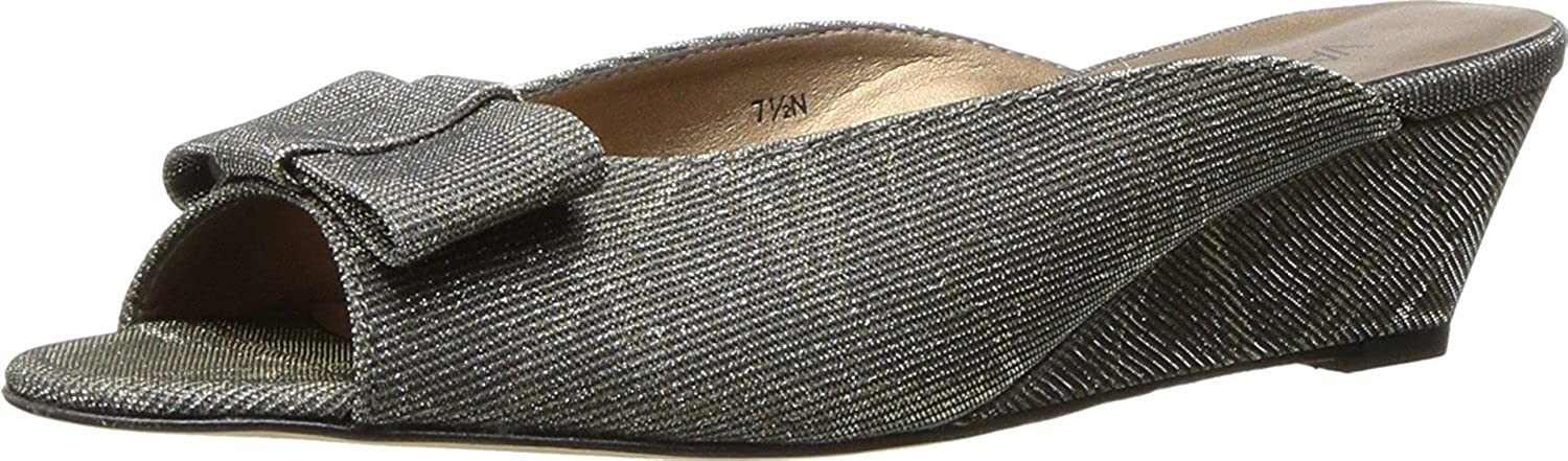 VANELi Womens Bligh Platinum Open Toe Wedge Slides shoes Sandals Size 12 N, AA