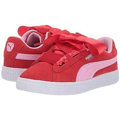 Puma Kids Suede Heart Radicals (Little Kid) (Hibiscus/Pale Pink) Girls Shoes