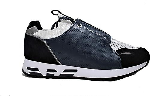 Emporio armani sneakers uomo colore blu navy + white