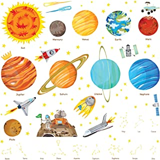 Decowall DA-1501 The Solar System Kids Wall Stickers Wall...