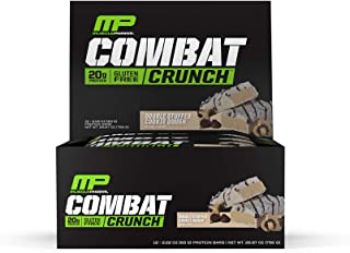 Muscle Pharm Combat Crunch Protein Bar, Multi-Layered Baked Bar, Gluten-Free Bars, 20 g Protein, Low-Sugar, Low-Carb, Glut...