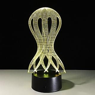 Jellyfish Lamp Octopus 3D Usb Led Visual Creative Night Light To Sleep Table Lamp Décoration Décoration Accessoires