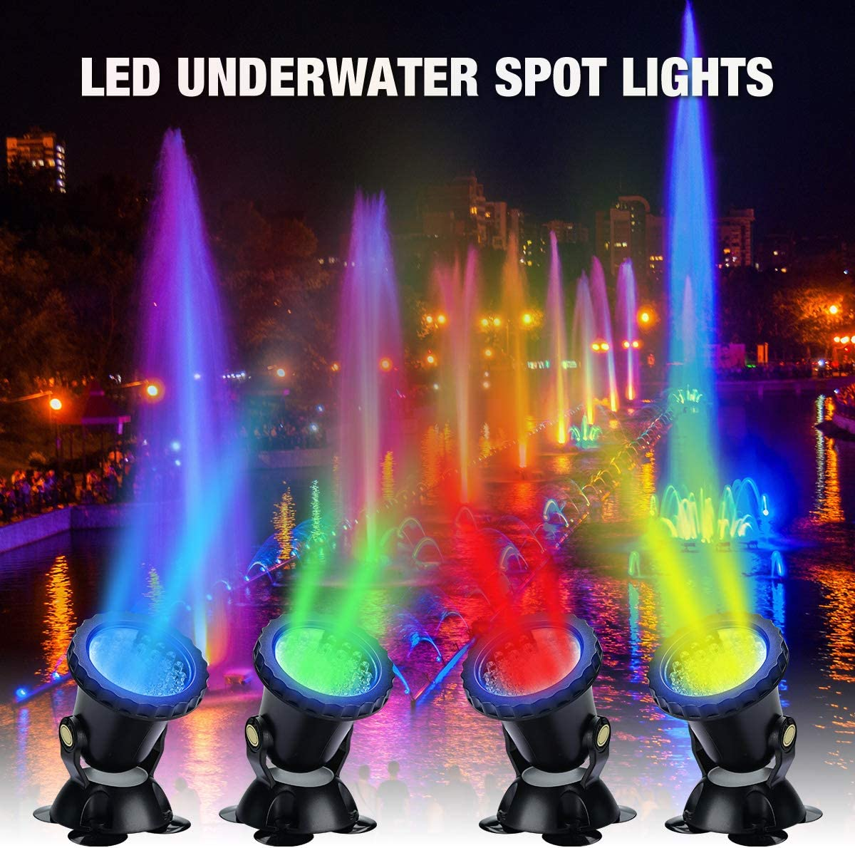 2 Pezzi Lychee LED Lighting Luci Piscina con Telecomando Sommergibili,Sommergibile luce del laghetto Impermeabile RGB Multicolore Luci di Umore Notte Luci Subacquee per Fish Tank Laghetto