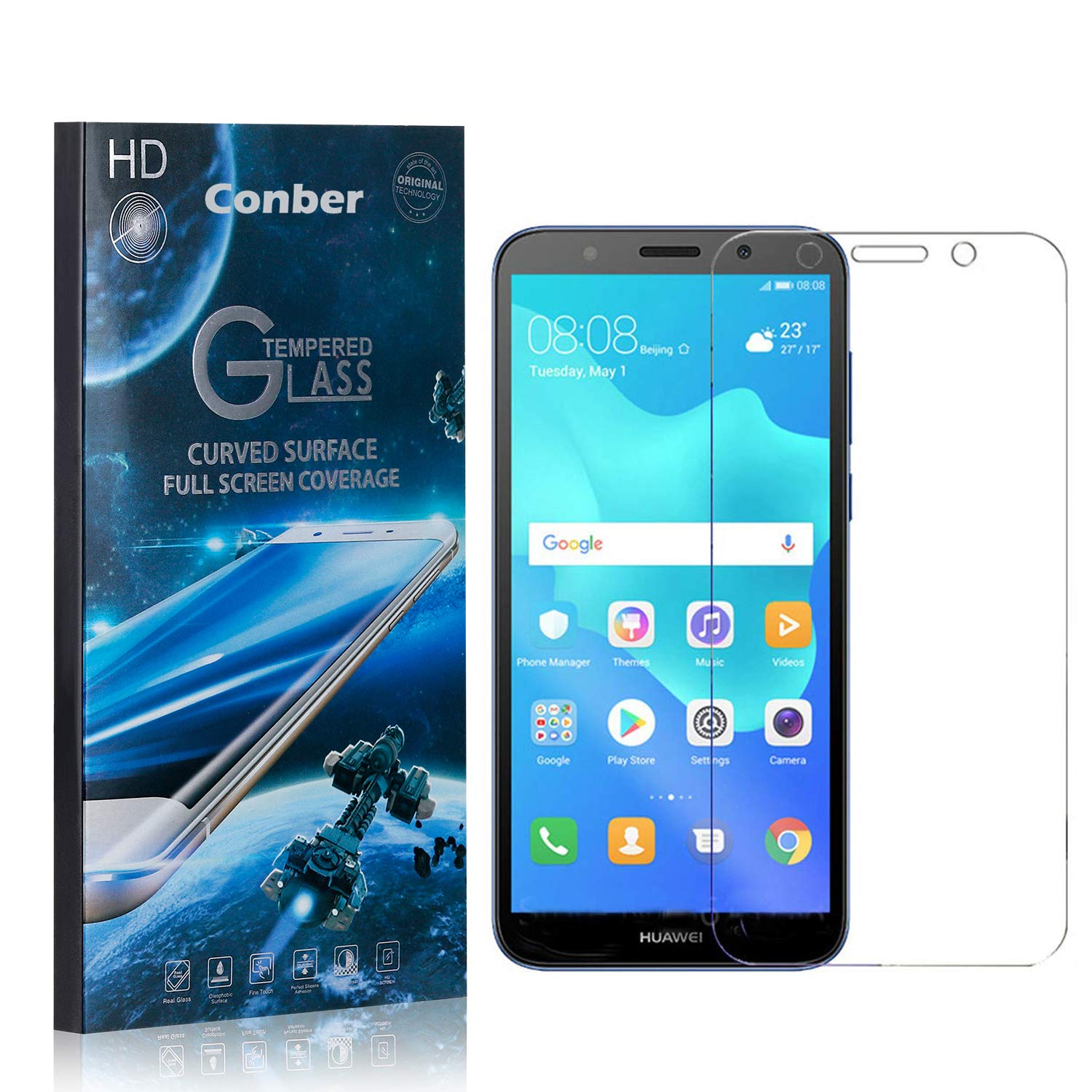 Conber 4 Pack Screen Ranking TOP17 Protector Huawei Y5 Max 73% OFF for 2018 Scratch-Re