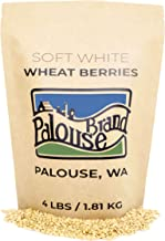 Soft White Wheat Berries • 100% Desiccant Free • 4 lbs • Non-GMO Project Verified • Certified Kosher Parve • USA Grown • F...