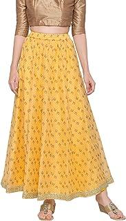 Globus Yellow Printed Skirt
