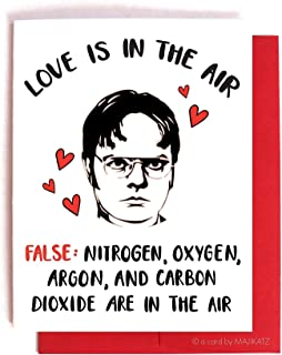 Dwight Schrute Anti-Love - The Office Card