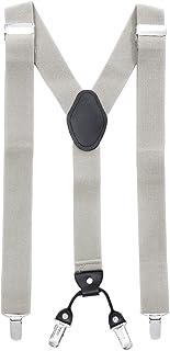 MASADA tirantes calidad fabricados a mano, con cierres resistentes y ajustes continuos con anchura de 3,5 cm para tallas d...