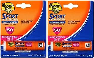 Banana Boat Sport SPF 50 Sunscreen Lip Balm (2 Pack)