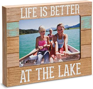 Pavilion Gift Company 67243 We People-Life is Better at The Lake Picture Frame, 5