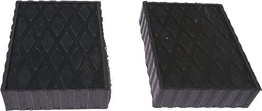 Auto Lift/Rolling Jack Rubber Block Pad Adapter Set (2)-4 3/4
