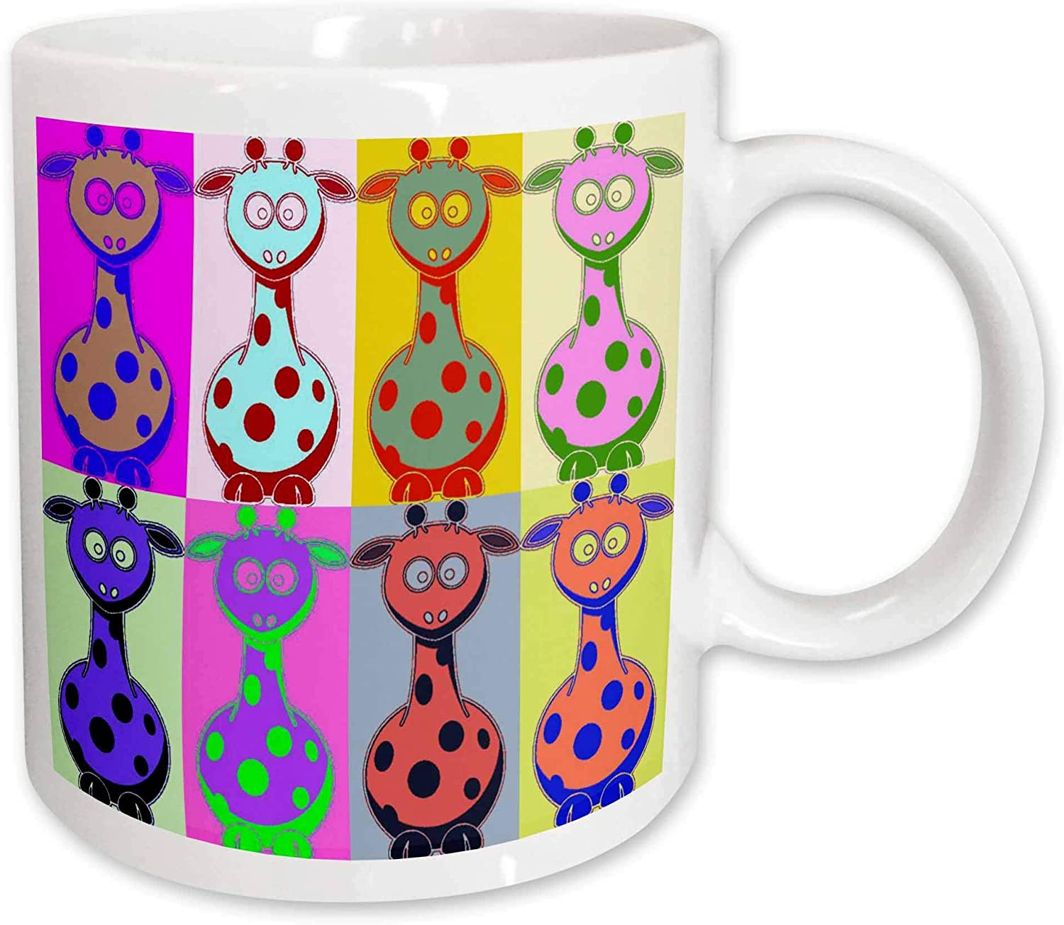 3drose Cartoon Giraffe Pop Art Mug 11 Ounce Kitchen Dining