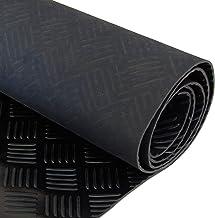 3 mm dick 3 M x 1,5 M breit schwarz Riffelblech Gummimatte