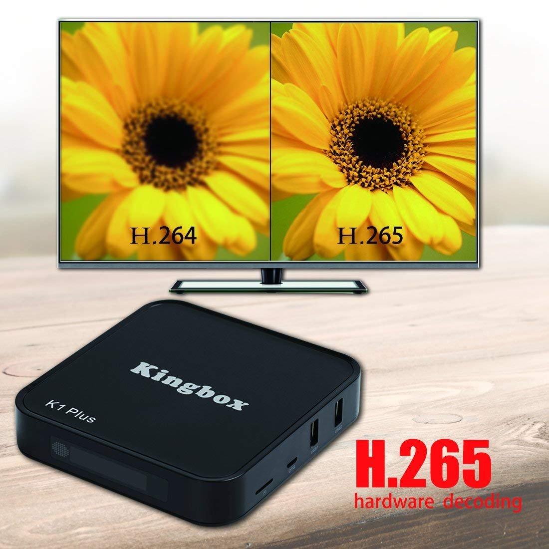Más reciente Android TV Box 4 K/BT//Full HD/H.265/Smart TV Box, kingbox K1 Plus Android 6.0 TV Box 2 GB/8GB con Mini teclado: Amazon.es: Electrónica