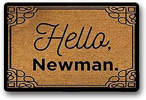 WYFKYMXX Seinfeld Tv Show Gifts, Outdoor Welcome Mat, Funny Doormat, Housewarming Gift, Seinfeld Gifts, Hello Newman, Seinfeld Fan 23.6