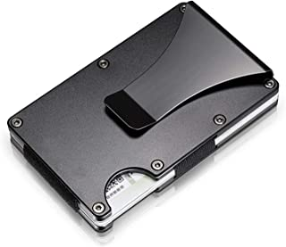 Metal RFID wallet with clip