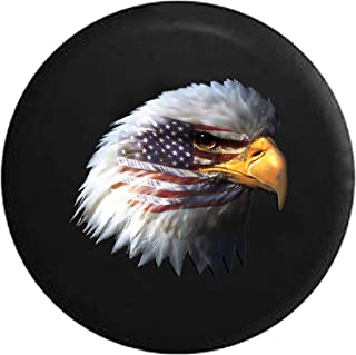 Waving American Flag and Bald Eagle Spare Tire Cover fits SUV Camper RV Accessories 32 in