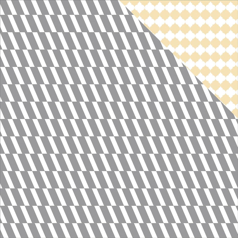 Teresa Collins 25 Sheets Herringbone Glam Factor Double-Sided Cardstock, 12 x 12