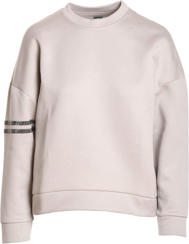 Eleventy Women's 980FE0078FEL2301302 White Cotton Sweatshirt